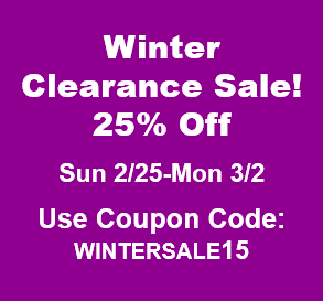 Winter Clearance Sale 25% Off