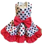 Patriotic, Red, White & Blue Dog Dresses, Shirts, Outfits