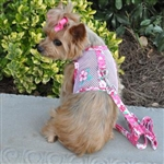 Hawaiian Hibiscus Pink Cool Mesh Dog Harness