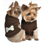 Brown Bone Dog Sweater, dog sweaters, big dog clothes, large dog sweaters, winter clothing