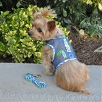Surfboard Blue & Green Cool Mesh Dog Harness Cool Mesh Dog Harness