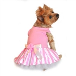 Pink Striped Dog Tank Dress, BowWowsBest.com | Dog Dress, Dog Designer Dress, Dog Clothes, dresses for dogs