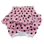 Ruffled Pink & Black Polka Dot Dog Panties, Dog Panties, Dog Underwear, Designer Dog Panties, Panties for Dogs