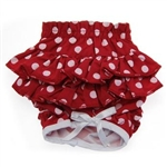 Ruffled Red & White Polka Dot Dog Panties, Dog Panties, Dog Underwear, Designer Dog Panties, panties for dogs