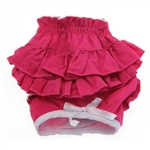Ruffled Solid Pink Dog Panties, Dog Panties, Dog Underwear, Designer Dog Panties, panties for dogs