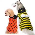 Ladybug Bumble Bee Reversible Dog Costume from BowWowsBest.com, Dog Halloween attire; dog Halloween costumes, Halloween dog costumes, large dog costumes, Halloween costumes for large dogs, designer Halloween dog costumes