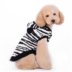 Silvery Zebra Dog Sweater from BowWowsBest.com,  Dog Sweaters, Dog Winter Sweaters, Dog Clothes, Designer Dog Clothes, Dog costumes,, Dog Clothing, Dog Winter Clothing, Halloween attire for dogs, Halloween outfits for dogs, dog Halloween attire