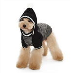 Contrast Hoodie Dog Sweater