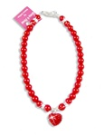 Heart Rocked Pearl Dog Necklace