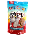 K9 Crisps Chicken Dog Chips, low fat dog cookies, dog training treats, Gourmet Dog Treats