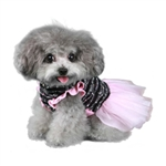 Caroline Party Dog Dress, fancy dog dresses, dog formal wear, dog tuxedos, poochoutfitters.com, bowwowsbest.com