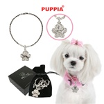 Paw Story Dog Necklace from BowWowsBest.com | Dog Necklace, Dog Jewelry, Designer Dog Jewelry, Dog Clothes, Designer Dog Clothing, Dog Beds, Designer Dog Beds, Dog Formal Wear, Dog Tuxedo, Dog Leads, Dog Leashes, Dog Accessories