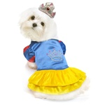 Snow Princess Dog Costume from BowWowsBest.com | The best in designer dog costumes, dog clothes, designer dog clothes, dog clothing, dog dresses, dog beds, dog harnesses, designer dog beds
