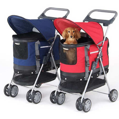 Deluxe 3 In 1 Pet Stroller For Dogs And Cats
