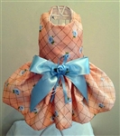 Peach and Baby Blue Dreamy Dog Dress, dog dresses, formal dog dresses, dog wedding attire