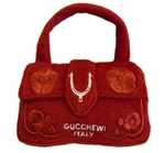 Gucchewi Red Floral Purse Dog Toy, dog toys