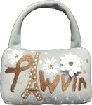 Pawvin Eiffel Minaudiere Purse Dog Toy