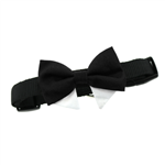 Interchangeable Black Bow Tie Collar Set for Dogs, Dog Formal Attire, BowWowsbest.com,  Doggiedesign.com