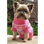 Snowflake and Hearts Dog Sweater, dog sweaters, big dog clothes, large dog sweaters, BowWowsbest.com, Doggie Design