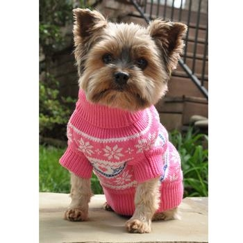 Snowflake And Hearts Dog Sweater Dog Sweaters Big Dog Clothes