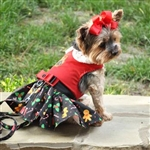 Holiday Dog Harness Dress, dog costume harness,  Christmas dog dresses