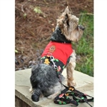 Gingerbread Fabric Dog Harness, dog costume harness,  Halloween dog dresses