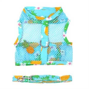 Cool Mesh Dog Harness - Pineapple Luau, mesh dog harnesses, BowWowsbest.com, Doggie Design