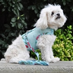 Cool Mesh Dog Harness - Surfboards and Palms, mesh dog harnesses, BowWowsbest.com, Doggie Design