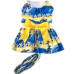 Catching Waves Dog Dress with Matching Leash, casual dog dresses, dog harness dresses, BowWowsbest.com, Doggie Design