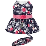 Moonlight Sails Dog Dress with Matching Leash, casual dog dresses, dog harness dresses, BowWowsbest.com, Doggie Design