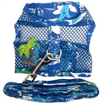 Cool Mesh Dog Harness - Catching Waves, mesh dog harnesses, BowWowsbest.com, Doggie Design