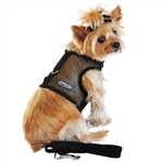 Black Cool Mesh Dog Harness