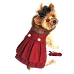 Burgundy Wool Dog Harness Coat, dog coats big dog coats, large dog coats