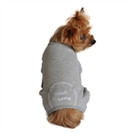 Alloy Gray Sweet Dreams Dog Thermal Pajamas, dog pajamas