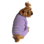 Pastel Lilac Sweet Dreams Thermal Pajamas, dog pajamas