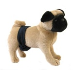 Navy Suede P-Pocket Belly Bands for Male Dogs