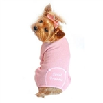 Pink Sweet Dreams Thermal Pajamas, dog pajamas