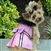 Pink Wool Fur-Trimmed Dog Harness Coat, dog coats big dog coats, large dog coats