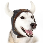Viking Helmet Dog Hat from BowWowsBest.com, Dog caps, hats and visors, Halloween costumes for dogs, dog Halloween costumes, Halloween for dogs, Halloween hats for dogs, dog hats for Halloween