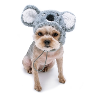 Koala Dog Hat from BowWowsBest.com | Dog caps, hats and visors, Halloween dog costumes