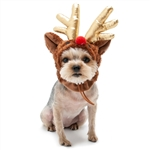 Rudolph Dog Hat from BowWowsBest.com | Dog caps, hats and visors, Halloween dog costumes