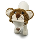Teddy Bear Dog Hat from BowWowsBest.com | Dog caps, hats and visors, Halloween dog costumes