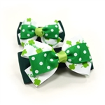 EasyBOW St. Patrick's 2 Dog Collar Bow
