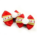 EasyBOW Christmas 1 Dog Collar Bow