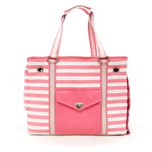 Pink Tote Dog Carrier Bag
