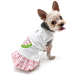 Watermelon Dog Dress, dog clothes, dog dresses,  casual dog dresses, fancy dog dresses, bowwowsbest.com