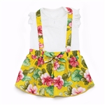 Floral Suspender Dog Dress, dog clothes, dog dresses,  casual dog dresses, fancy dog dresses, bowwowsbest.com