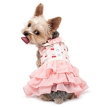 Cherish Cherry Dog Dress, dog clothes, dog dresses,  casual dog dresses, fancy dog dresses, bowwowsbest.com