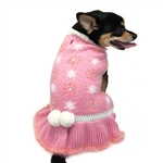 Daisy Dog Sweater Dress, dog clothes, winter dog dresses,  casual dog dresses, fancy dog dresses, bowwowsbest.com