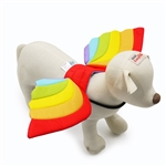 Rainbow Wings Dog Costume, Halloween dog costumes, BowWowsbest.com